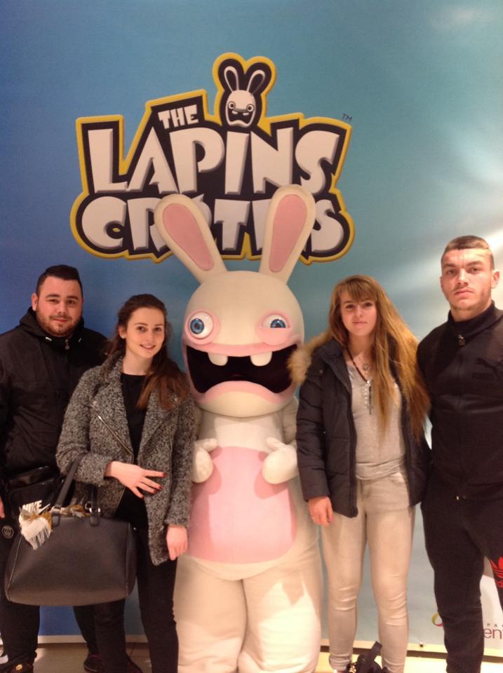 Les Lapins Cretins - Séance photocall - Animation mascotte