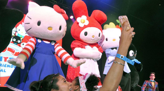 Animation mascotte Hello Kitty