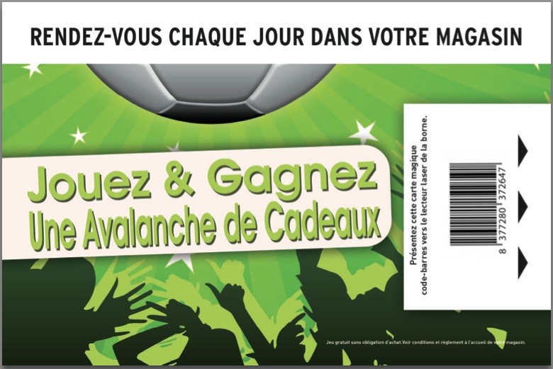 Ticket pour Borne de jeu interactive magasin - Solution trafic