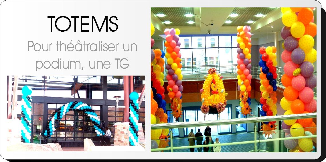 Totem de ballons - décoration ballons évasion communication