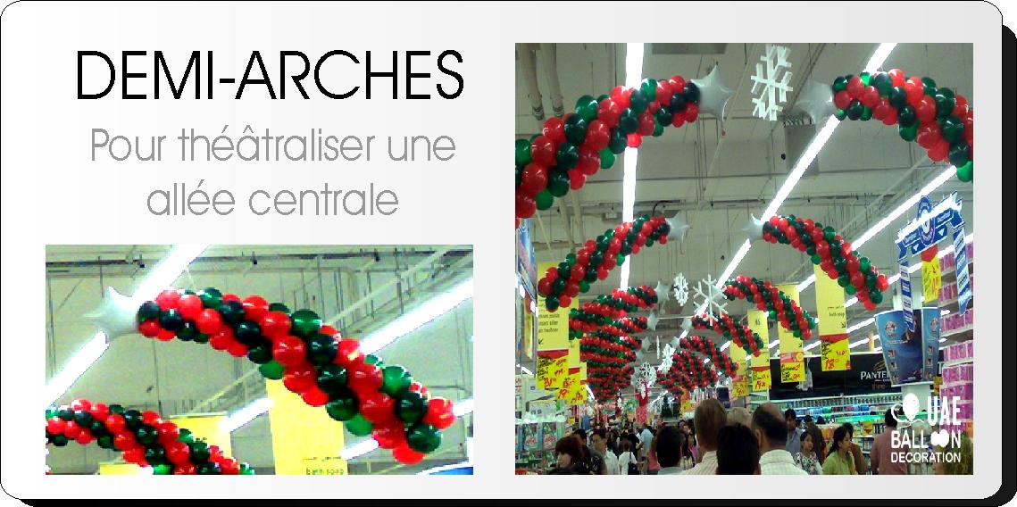 Demi-arches de ballons - Décoration ballons