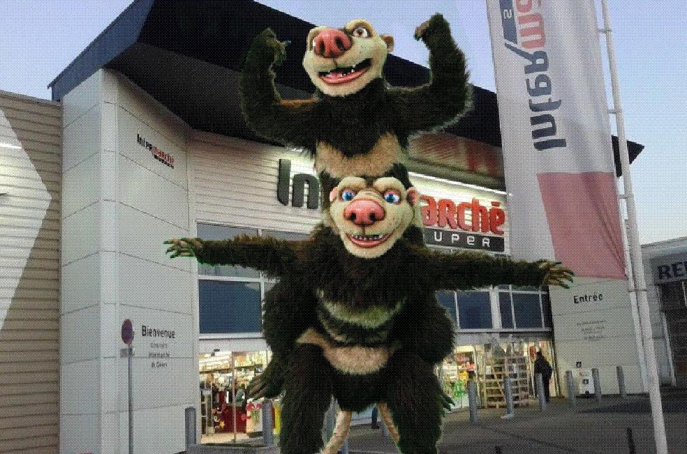 Animation personnages mascottes L'Age de Glace Intermarché
