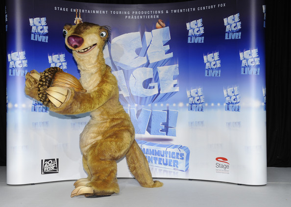 Animation photocall personnages mascottes L'Age de Glace