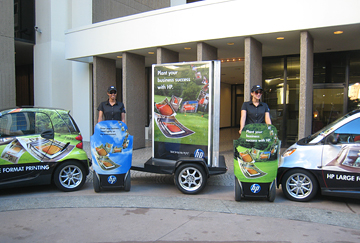 Opération street marketing segway gyropode evasion communication