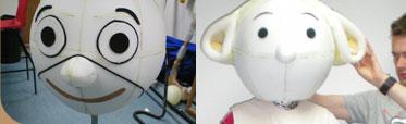 Création de mascotte - fabrication mascotte mousse résine tissu