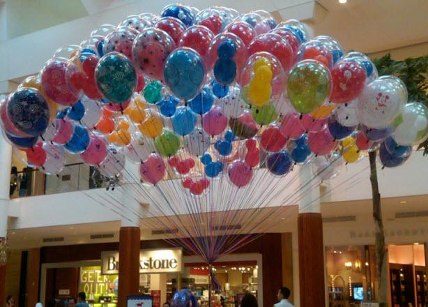 Décoration constituée de ballons