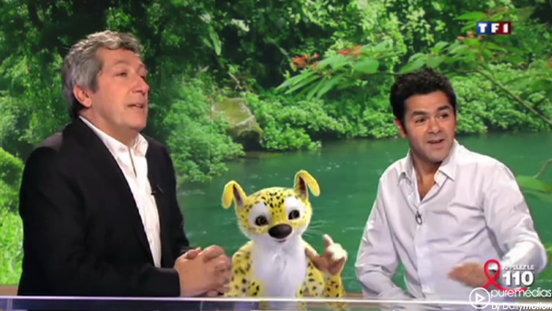 Le Marsupilami s'invite sur le plateau du JT de TF1
