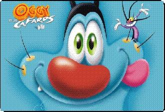 mascotte Oggy et les cafards
