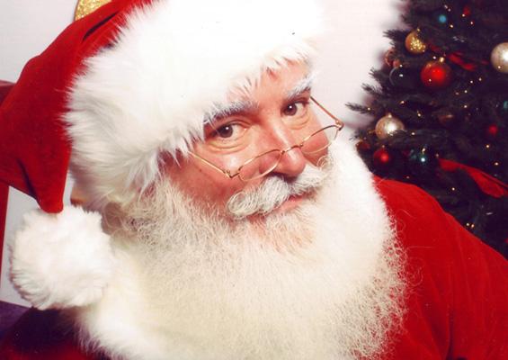 Animation père Noël pour arbres de noël et opération commerciale