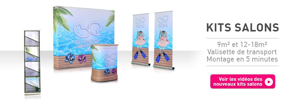 Création de stand parapluie stand tissu évasion communication discount