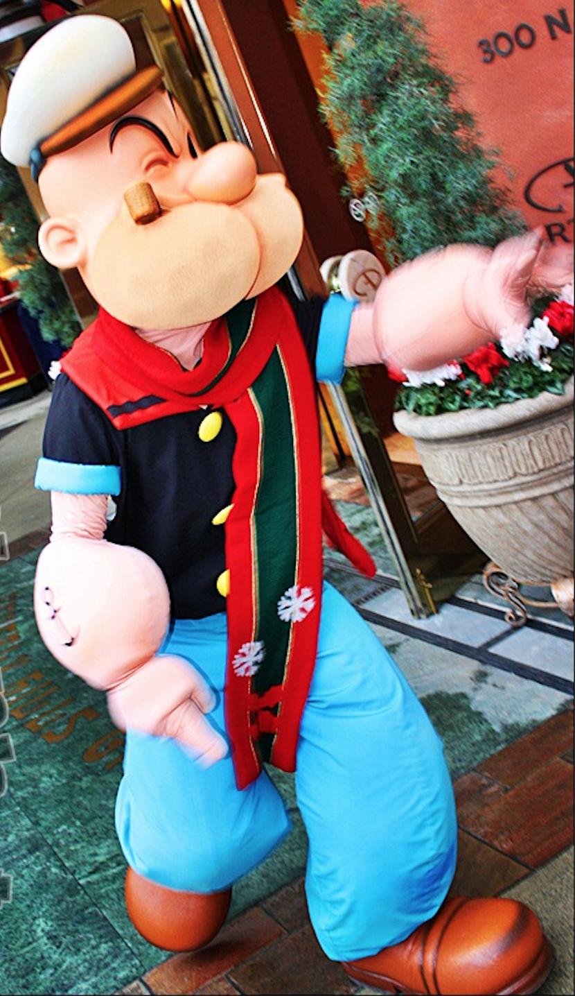 Personnage mascotte Popeye