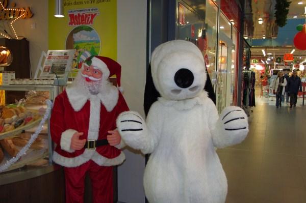 Snoopy Animation avec la mascotte