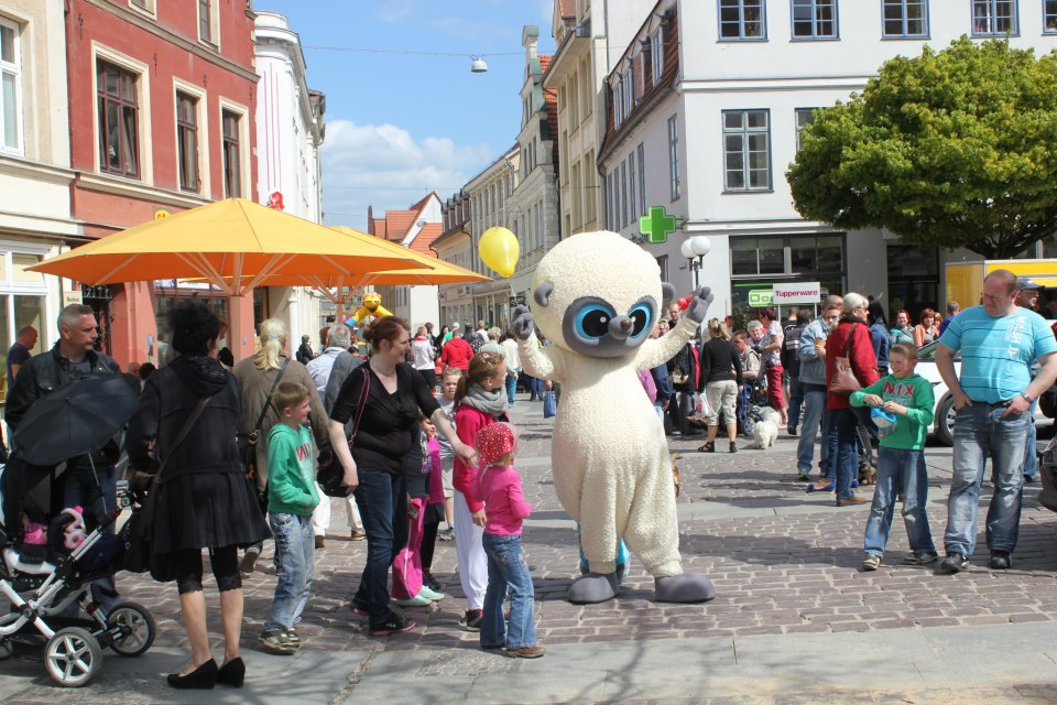 Les mascottes Yoohoo and Friends